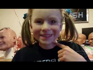 Creepy Little Girl Mask and Mask Maker, Landon Meier