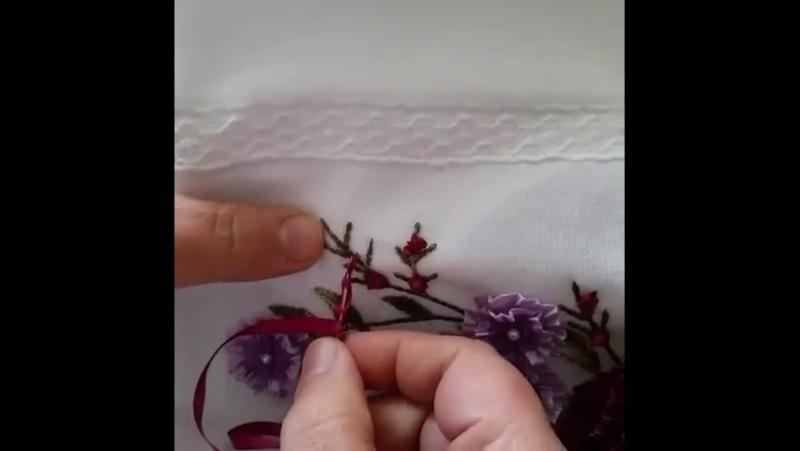 Маленькие розочки из ленты Сохраняйте-)..Sent in direct-author unknown.mp4