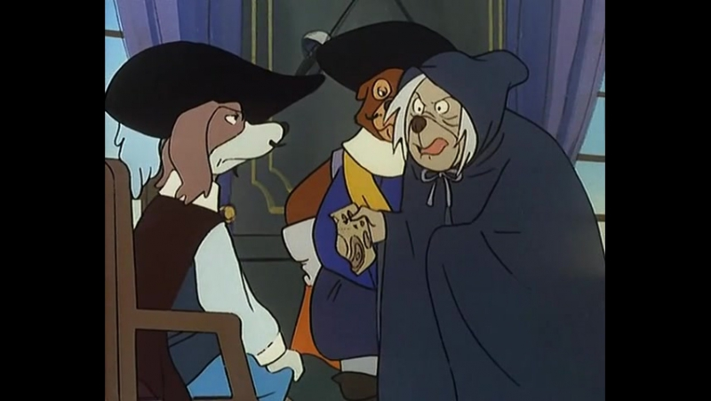 Д`Артаньгав и три пса-мушкетёра. 20 серия - ДАртаньян и Синий Сокол (1981)