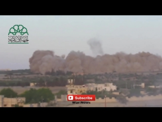 Extrem Strong Bomb Explosion in Syria