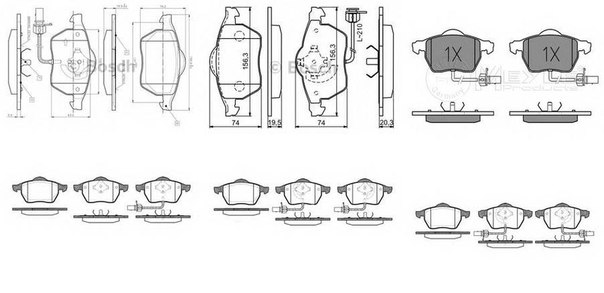 Комплект тормозных колодок, дисковый тормоз для BRILLIANCE BS4