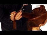 Стрижка каскад на длинные волосы ножницами и бритвой