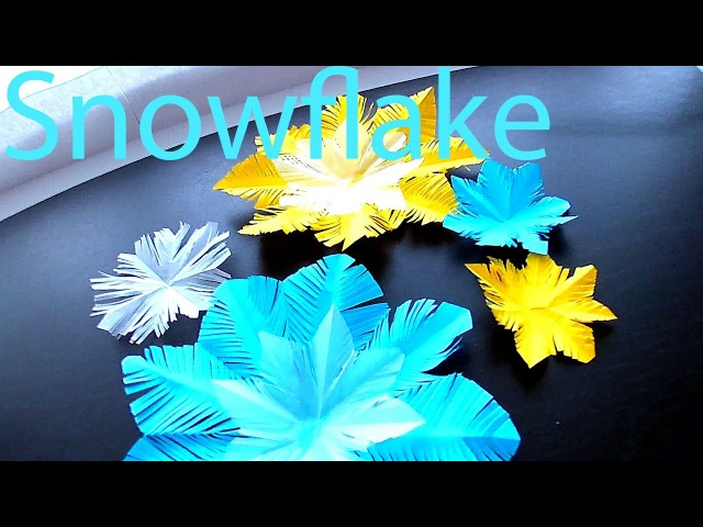 How to make fluffy Snowflake out of Paper Christmas Hack for 5 Minutes