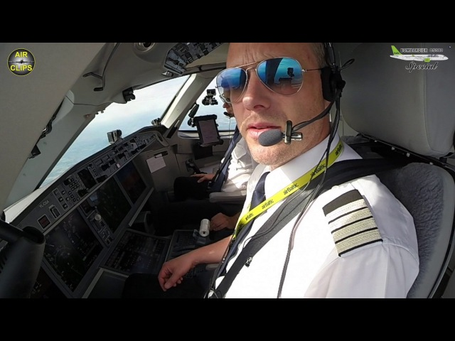 CS300 Riga-Paris Air Baltic Cockpit Preview HD DVD Quality FOR FREE! [AirClips full flight series]