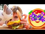 🍔 #Гамбургер для Маши #КапукиКануки и #Смарта Готовим вместе с #пиццаМаргарита Р...