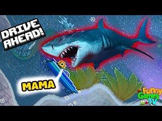 АТАКА АКУЛЫ новая серия игра как мультики про машинки видео для детей битва тачк...