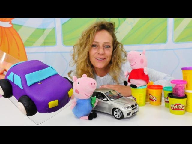 🐽 PlayDoh Video: PeppaPig und Nicole kneten ein Auto 🚗 Peppa Wutz auf Deutsch