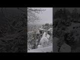 Зимние скалы Бастай