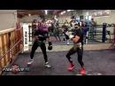 Спарринг Чемпиона UFC Ти Джея Диллашоу с Василием Ломаченко.