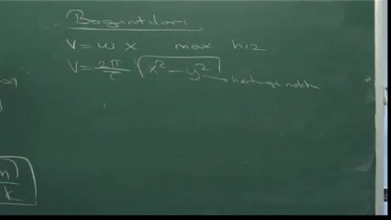 Fizik Ders 17 (ÖSS)- Dairesel Hareket Basit Harmonik Hareket Kepler Kanunu