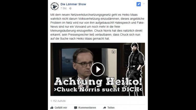 Mit dem neuen Netzwerkdurchsetzungsgesetz geht es Heiko Maas wahrlich nicht d...