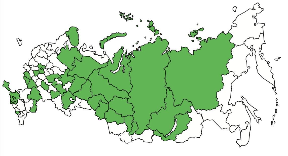 Карта региональных этапов