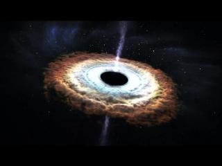 Чёрная дыра пожирает звёзды