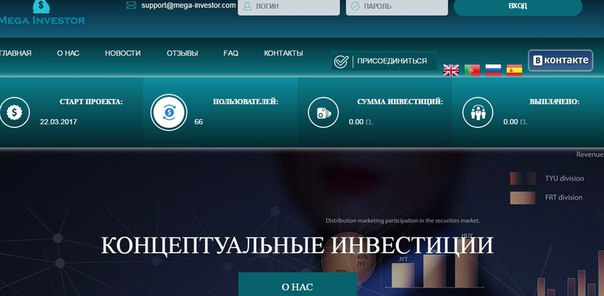 🆕Старт проекта 'Mega-investor'- Состоится 22.03.2017 в 17.00 📈1.5%-4.