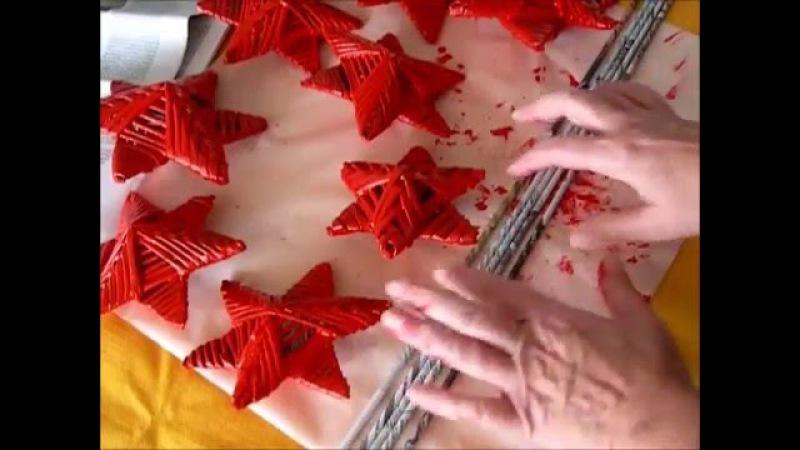 Cómo hacer estrellas de navidad. Estrellas navideñas con tubos de papel de periódico.