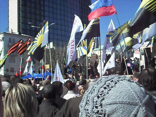 Demonstracja w Doniecku 23 03 14