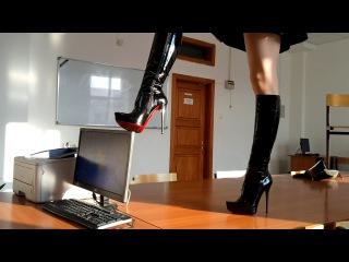 GIANMARCO LORENZI extreme high heels fetish boots 37 size SELFIE LIVE SOUND