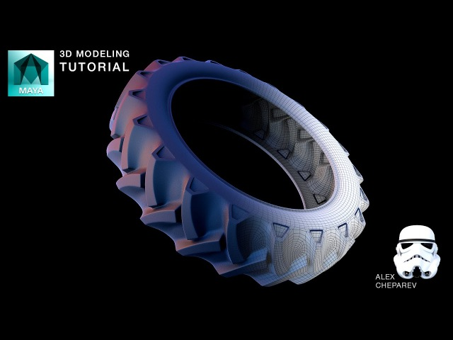Modeling a Tractor Tire in Maya - Lattices and Bend Deformers