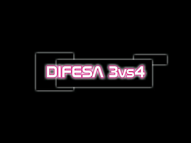 Tattica Futsal inferiorità numeriche, difesa 3vs4. Оборона при игре в меньшинстве (3 на 4)