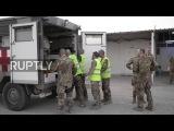 Афганистан Пострадавшие иностранцы прибывают в больницу Герат Поле после ракетной атаки.