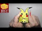 Как сделать оригами покемона Пикачу из бумаги А4? (из игры Pokemon GO)