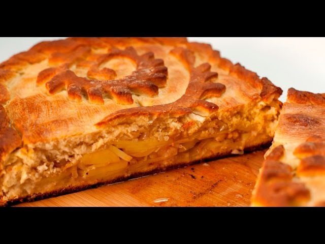 Картофельный пирог с салом | Теле-теле-тесто