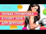 Первая тренировка в спорт зале для девушек от фитнес тренера Екатерины Романенко