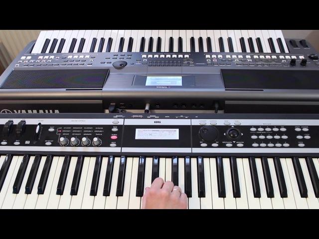 Под небом голубым Город Золотой Аквариум на синтезаторе Yamaha psr s670 Korg x50