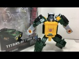 Transformers Titans Return Legends Brawn Chefatron Toy Review