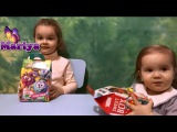 Девочки открывают Подарочный Набор Смешарики игрушки Распаковка Свит Бокс Сюрп...