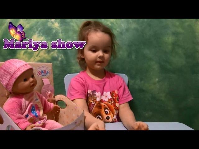 Кукла Беби Бон Мария играет с Куклой надуваем вместе шарики Катя считала шарики