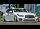 Modifiied INFINITI Q50 - stance, slammed, bagged 2017 compilation