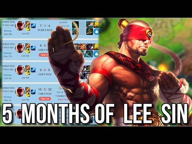 5 Months of Non-Stop Lee Sin Playmaking in 12 Minutes - League of Legends