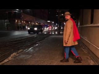 Ноггано в костюме СуперМена в Нью-Йорке (#NR)