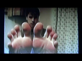 16 year old boy wiggling his toes