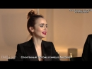 Hailee Steinfeld  Lily Collins Play Fishing for Answers׃ Humility, Gratitude, Spontaneity ¦ THR [Rus Sub]