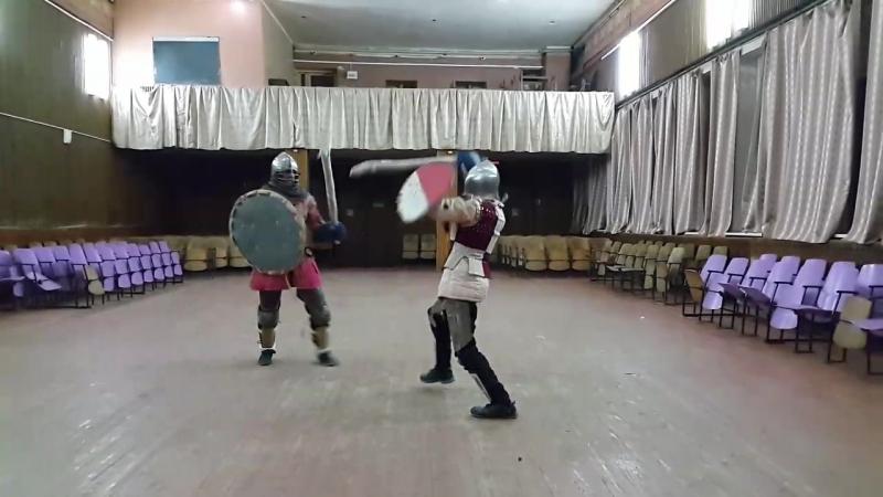 Галкин-Сотов/Чесноков(спарринг в доспехе)