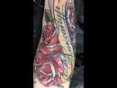 надпись с лентой и розами для Саши
