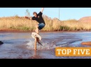 TOP FIVE: Extreme Rope Swing, Skimboarding Flyboard | PEOPLE ARE AWESOME 2016