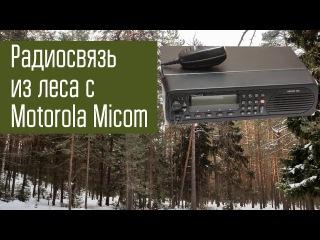 Радиосвязь на КВ из полевых условий зимой. Motorola Micom 2ES. 7 и 3.7 МГц.