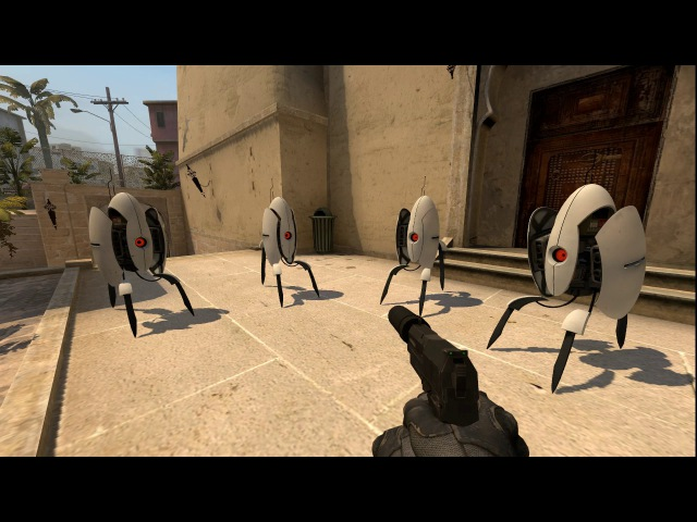 Хор турелей из portal 2 в CS:GO