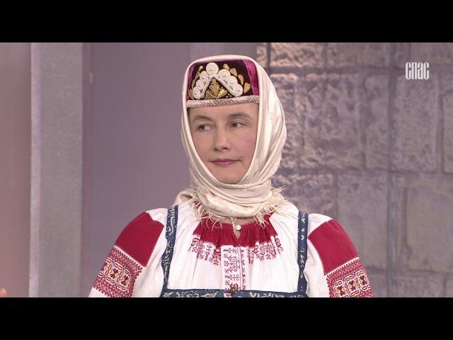 История русского костюма. Костюм праздничный женский.