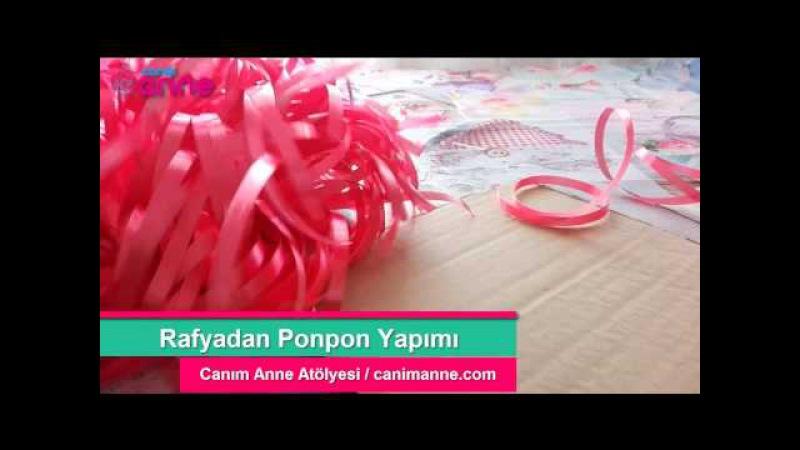 Rafyadan Ponpon Nasıl Yapılır? 23 Nisan Etkinlikleri - Kendin Yap - DIY