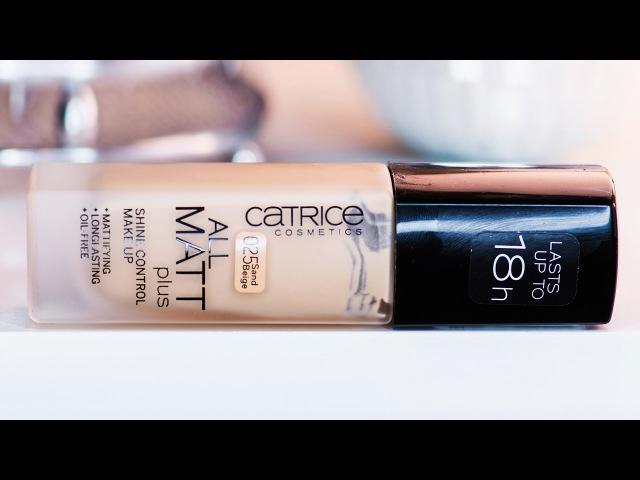 CATRICE All Matt Plus Shine Control Make Up | РЕВЬЮ DEMO нанесения