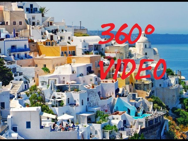 VR Tour Santorin 360° VR Video Samsung Virtual Gear GREECE Cruise Ship