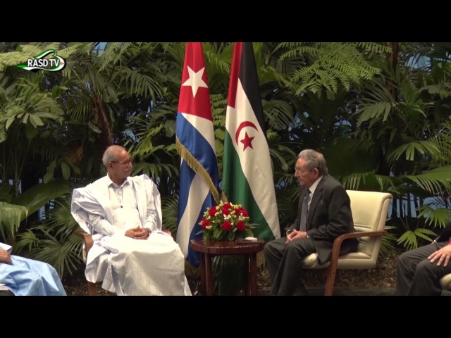 Presidente saharaui, Brahim Gali, se reúne con su homologo de cuba, Raul Castro