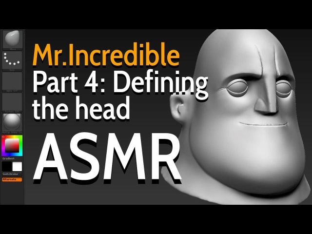 Modelling Mr. Incredible - Part 4 Defining the head - ASMR