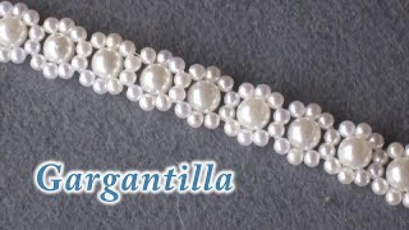 DIY - Gagantilla, collar, o pulsera de perlas