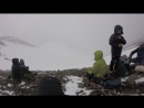 ждем погоды на площадке после ледника . Ирбисту. Горный Алтай . май 2017.
