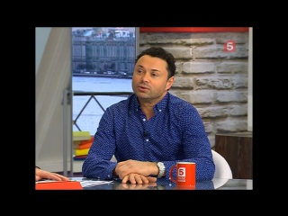 """Андрей Носков в программе """"Утро на 5"""". 9 января 2017 года."""
